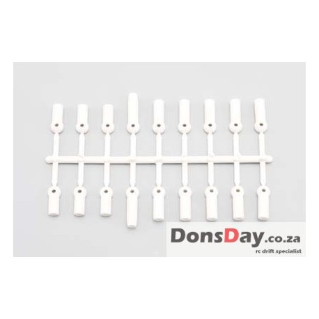 Yokomo Rod End Plastic Parts (White)