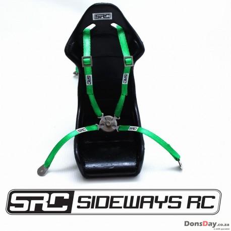 SRC BUCKET SEAT HARNESS ONLY (STEEL BUCKLE) Red/Green/Blue/Black