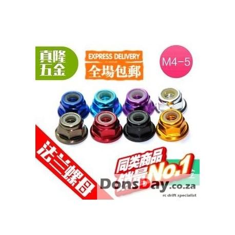 4mm Wheel nuts set 32pcs 8 different colours