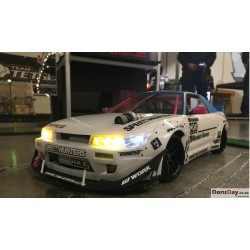 S13 Rocket Bunny V2 Ver.MINE Clear Body Parts Full Set For ABC Hobby S13