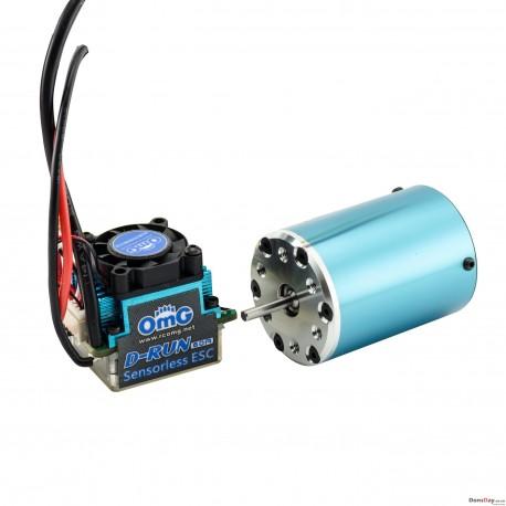 OMG D-RUN 60A 4300KV 4 Pole Brushless Sensorless ESC Motor Combo For 1/10 RC