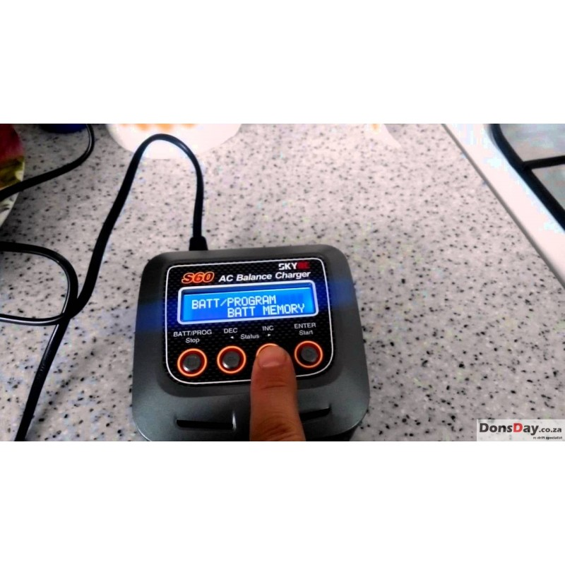 SkyRC S60 AC High-Voltage LiPo Balance Charger - DonsDay