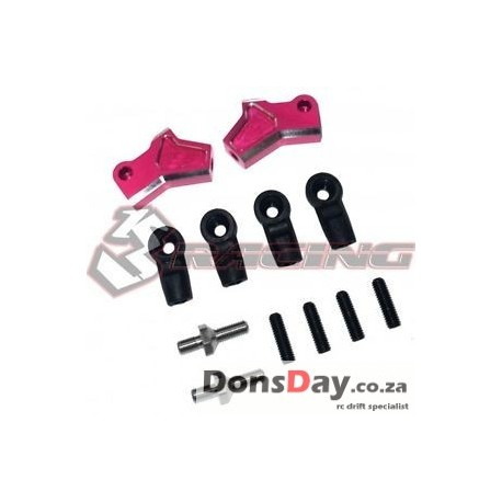 3Racing Sakura D4 Aluminum Suspension Upper Arm Pink for AWD