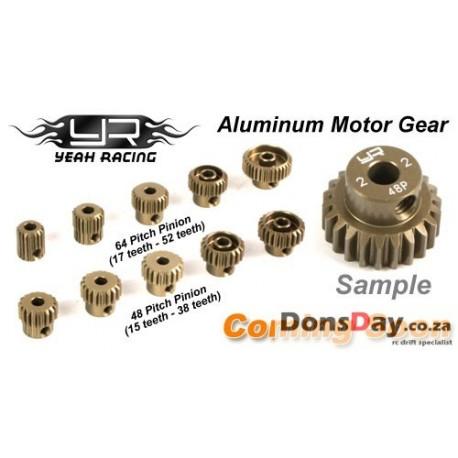 Yeah Racing Pinion Gear Super Hard Combo set 48p 33t-38t 6pcs