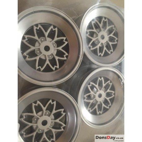 Classic 5 Flower Silver set 4pcs 6mm