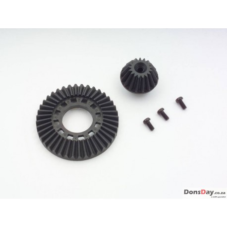 Yokomo SD-643G - Graphite Ring Gear / Drive Gear Set for One-Way / Solid Axle