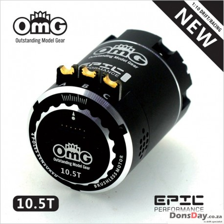 OMG's 540 EPIC Sensored Brushless Motor and Adjustable Timing Black