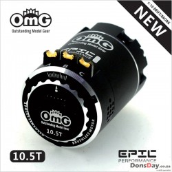 OmG Brushless sensored 10.5T motor New Epic combo set Black version