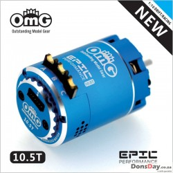 OmG Brushless sensored 10.5T motor New Epic combo set Blue version