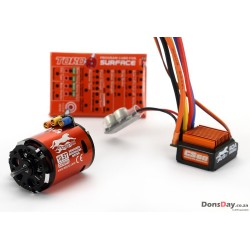 SKYRC Cheetah 1/10 60A Brushless ESC System Combo w/ Sensored 3250KV 10.5T Motor / Program Card