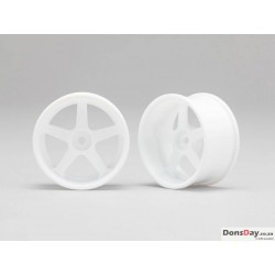 Yokomo White 5 spoke 01 offset 6mm 4pcs