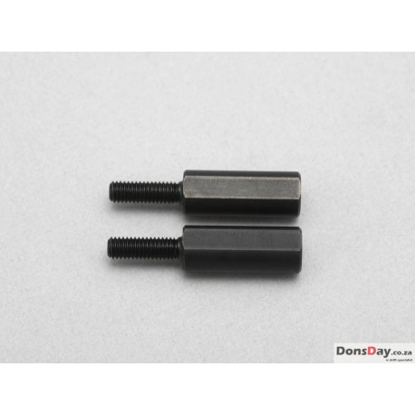 Yokomo D-154-15 - Rod End Adaptor 15mm for Aluminum Lower A-Arm with Narrow Scrub Steering Knuckle (2pcs)