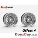 SSR Formula MESH 19 offset 4 matt silver (4pcs)