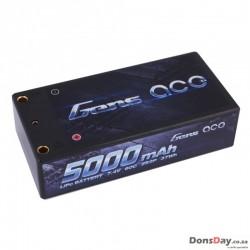 Gens ace 5000mAh 7.4V 60C 2S2P HardCase Lipo Battery Shorty Pack