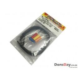 Yokomo BL-12WB1 - Cable / Wire 12 Gauge 100cm - Black