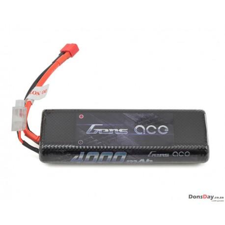 Gens ace 4000mAh 7.4V 25C 2S1P HardCase Lipo Battery