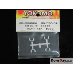 Yokomo BD5 / B-Max4 Swing Shaft Pin Protector White 2prs