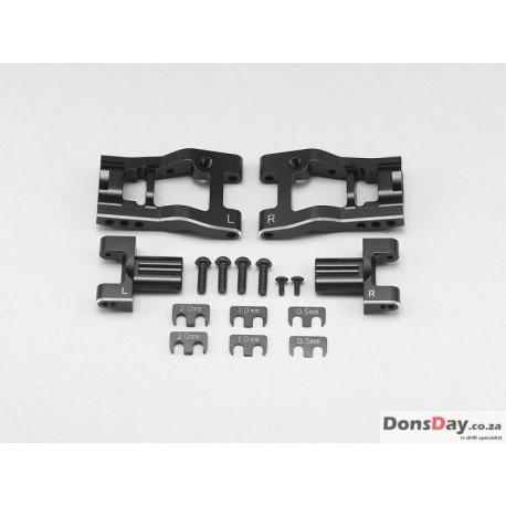 "YOKOMO Aluminum Adjustable Rear ""H"" Arm Kit for YD-2/YD-4"