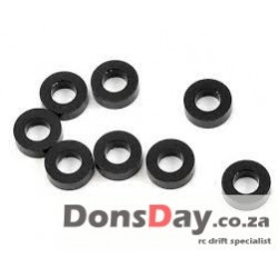 YOKOMO 3×6×2.0MM ALUMINUM SHIM BLACK 8pcs