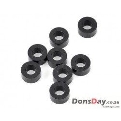 YOKOMO 3×6×3.0MM ALUMINUM SHIM BLACK 8pcs