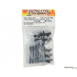 Yokomo YD-2 Aluminum Adjustable Suspension Mount Set Black