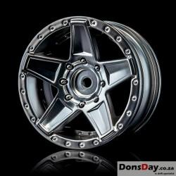 """MST Flat silver 648 1.9"""" wheel (+5) (4)"""