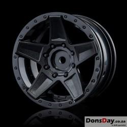 "MST Black 648 1.9"" wheel (+5) (4)"