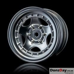 """MST Flat silver 236 1.9"""" wheel (+5) (4)"""