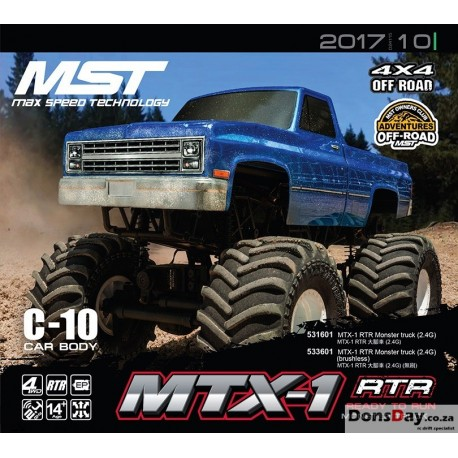 MST MTX-1 RTR Monster truck 2.4G brushed motor combo set