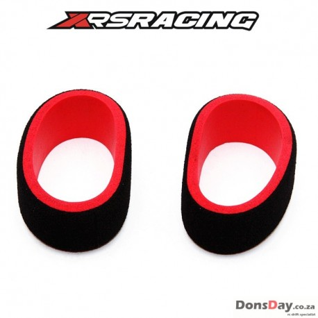 XRS Radio control wheel sponge (Black/Red) for Futaba radio 2pcs