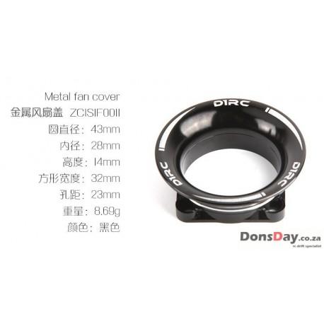 Fan cover Black 30mm