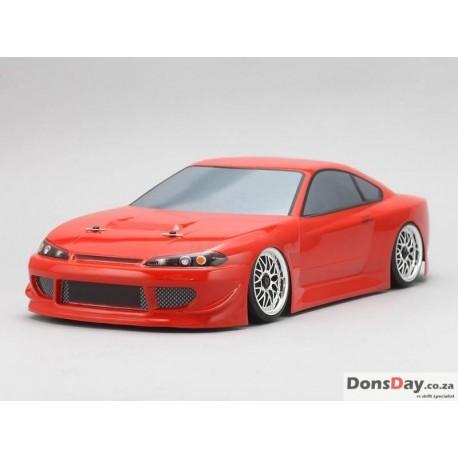 Yokomo Drift Body Nissan Silvia S15 - HKS Hiper (Graphic / Decal Less)
