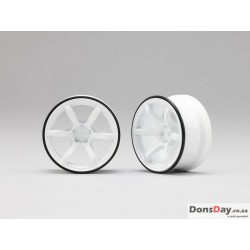 Yokomo RP High Traction Type Drift Wheel 6mm Offset - White (4pcs)