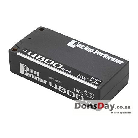 Yokomo Racing Performer LiPo 7,4V 4800mAh 100C Short Size (+5mm/-4mm Plug)