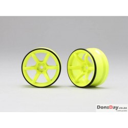 Yokomo RP High Traction Type Drift Wheel 6mm Offset - Yellow (4pcs)