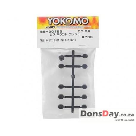 Yokomo BD8 Suspension Mount Bushing Set Black