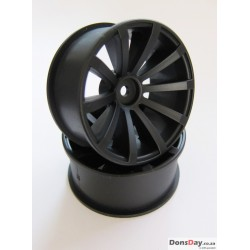Top line Drift Fighter DRS-10 Jupiter Offset 5 Super Matt Black 4mm hub specification 4pcs