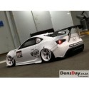Addiction Rear Wing stay (For any body) Silver