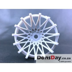 "Super RIM"" DISC ""DAHLIA"" Heavy WHITE 2pcs"