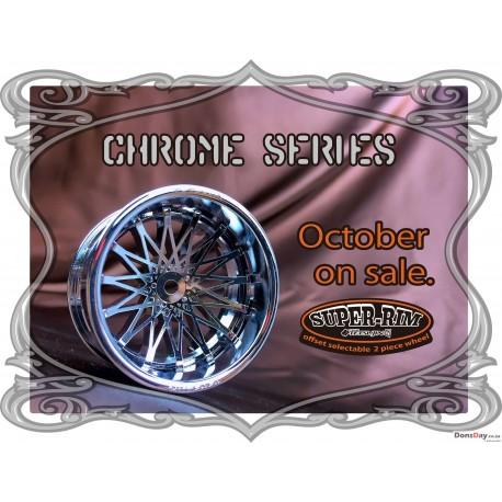 Super RIM Chrome and Chrome dahlia 4pcs set