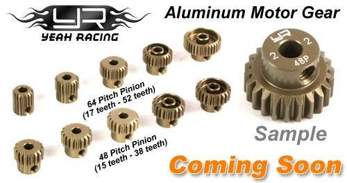 NEW Yeah Racing Pinion Gear Combo Set 48P 15T-20T 3mm Bore FREE US SHIP