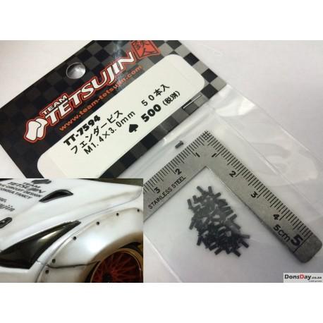 Fender Screw M1.4X3mm 50pcs (Black)