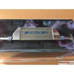 Alu. Real Intercooler slim Blue / mirror surf. 24mm