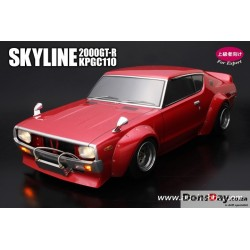Hobby Nissan Skyline 2000GT-R KPGC110 Cherry-Tail Version 1.5 200mm Clear Body Set For 1/10 RC Touring Drift
