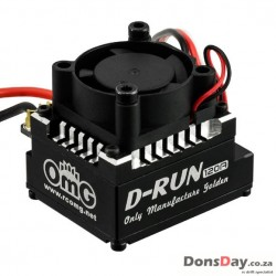 OMG Thunder Power D-RUN 120A Brushless ESC w/ Program Card Black