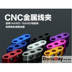 CNC Wire Holder 14AWD-16AWD (Silver, Black, Tamiya Blue, Gold)