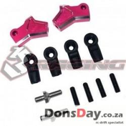 3Racing Sakura D4 Aluminum Suspension Upper Arm Pink for AWD