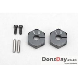 Yokomo Alum Clamp Wheel Hub for BD5 (5.0mm・Black)