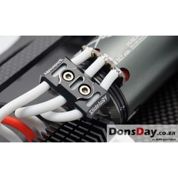 Slidelogy Aluminum Case 12-14 Gauge Wire Guard Clamp Black